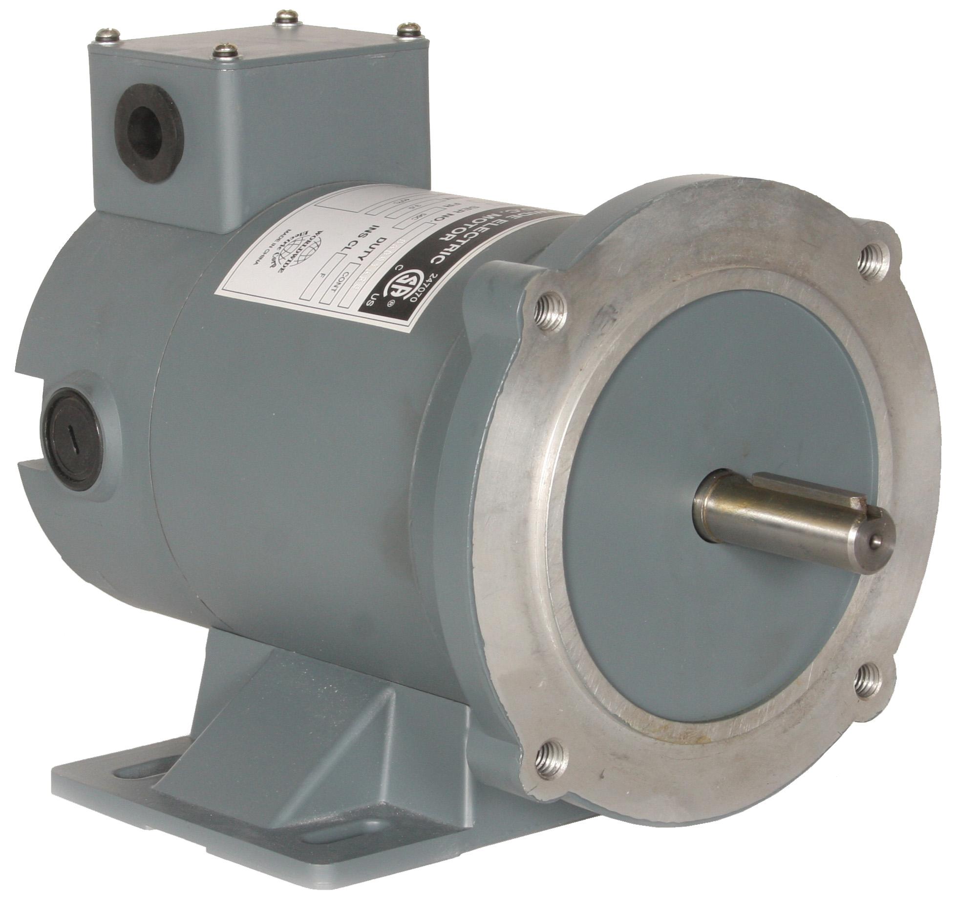 Permanent magnet dc motors tenv tefc enclosure c face for Surplus permanent magnet dc motors