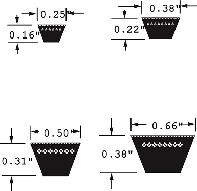 Contitech Goodyear Fhp V Belts 2l 3l 4l 5l Rainbow Precision